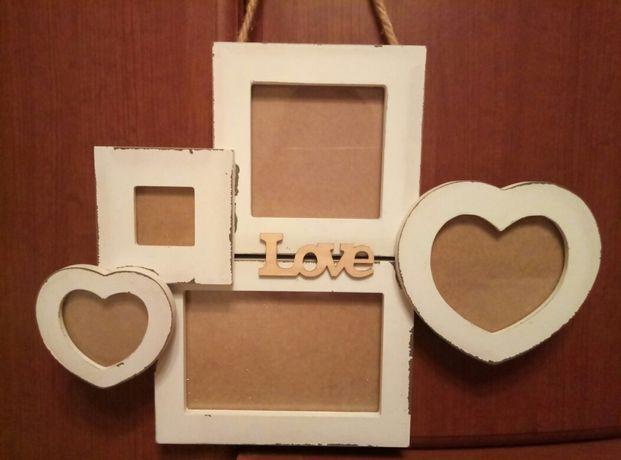 Фоторамка - коллаж настенная Love