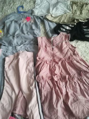 Ubrania rozm. 110 116 dla dziewczynki