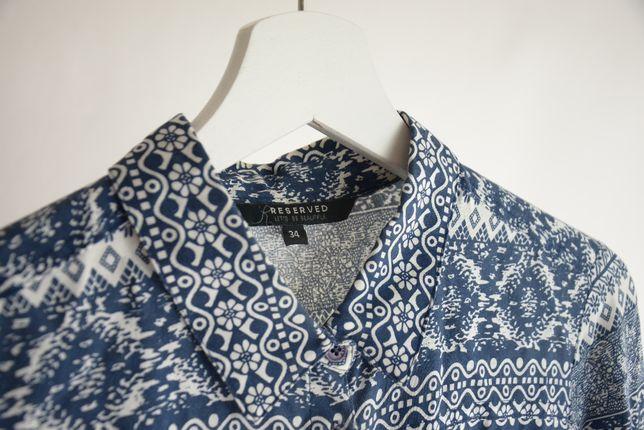 Wzorzysta koszula marki Reserved rozm.34(XS)