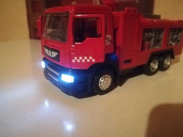Пожарная машина, металл, свет, звук, 19 см