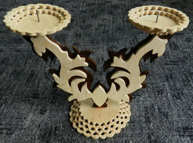 Kolekcja stylowy świecznik dwuramienny, tradycyjne rękodzieło ludowe
