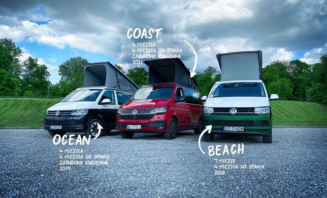 Wynajem kamper VW Volkswagen California Beach Coast Ocean WolneTerminy
