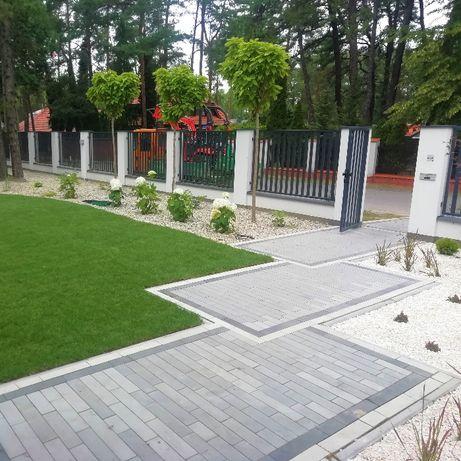 Ogrody, Zakładanie Ogrodów, Nawadnianie Roboty Koszące, kostka brukowa