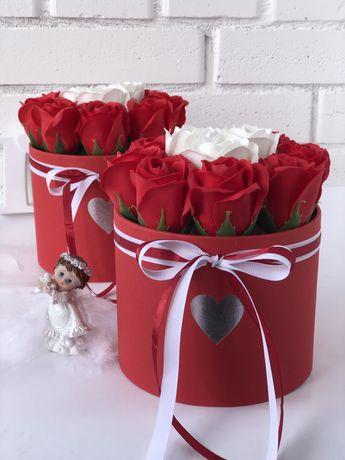 Подарок,розы,цветы из мыла,букеты,неувядающие розы
