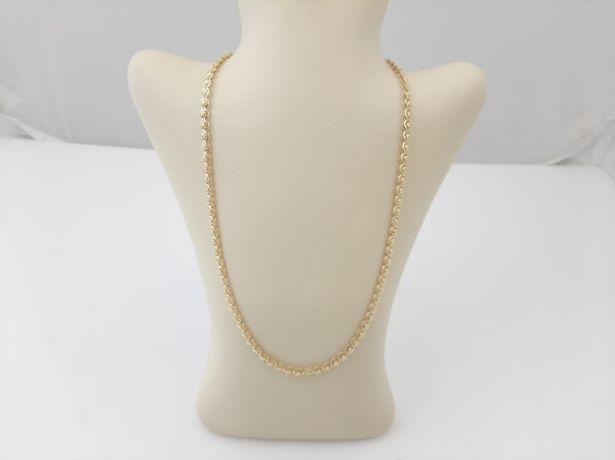 Piękny Złoty łańcuch 585/14K, UNIKATOWY SPLOT , NOWY 54cm