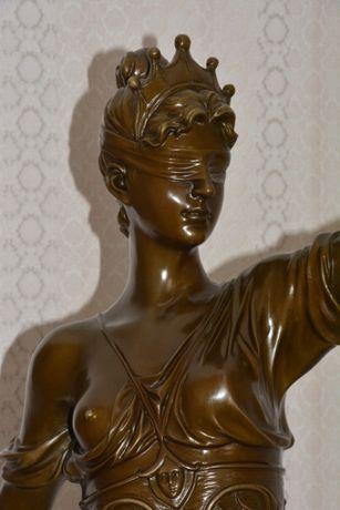 Estátua de bronze deusa da Justiça ÚNICA