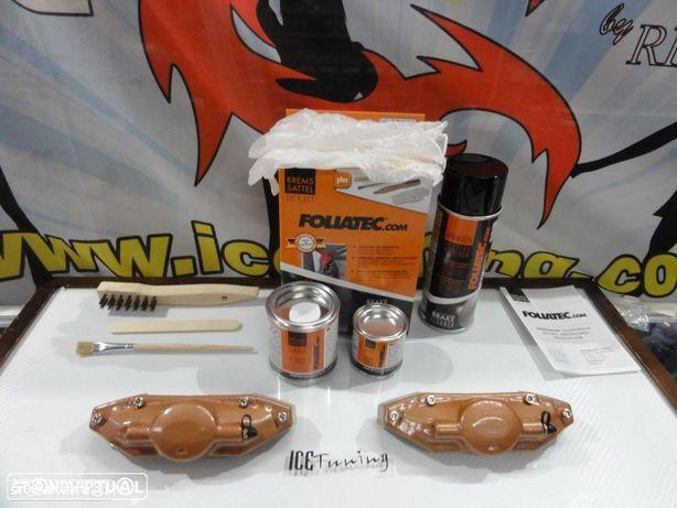 Capas Brembo + Tinta alta temperatura Foliatec Cobre Metalico para bombas
