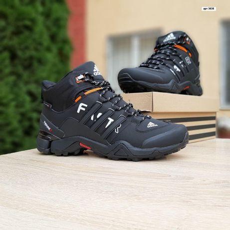 3638 Adidas Fast кроссовки мужские черные сапоги с мехом адидас зимние