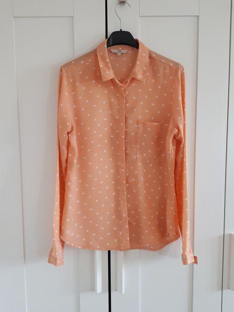 Koszula damska S pomarańczowa, lososiowa, pastelowa morelowa