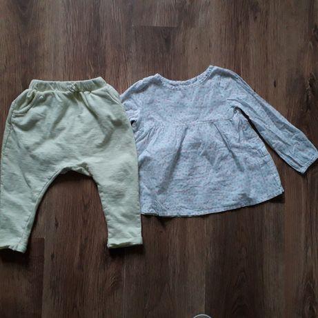 Komplet/Koszula/Bluzeczka/Spodnie/Baggy 80-86 Reserved 12-18 miesięcy