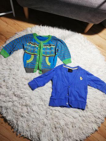 Sweterki dla chłopca sweter 2 szt 74 80 86