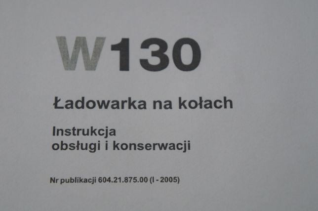 Instrukcja obsługi DTR ładowarka kołowa NEW HOLLAND W130 j. polski