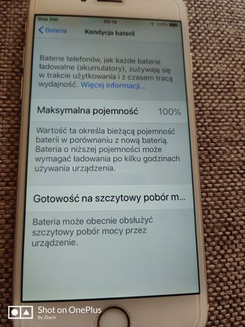 iPhone 6 , 64gb , bateria nowa