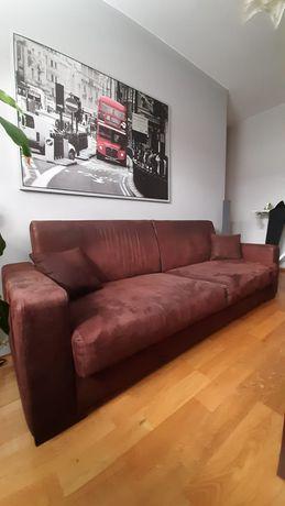 Komplet wypoczynkowy - kanapa rozkładana oraz fotel