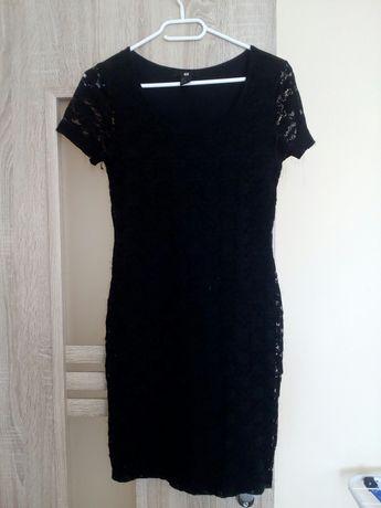 Czarna koronkowa sukienka H&M rozmiar S 36