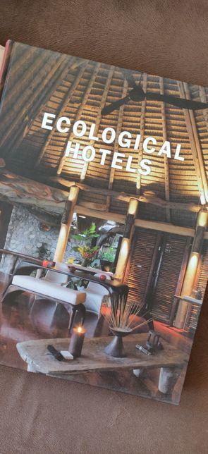 Ecological hotels. Architektura usługowa, mała usługa. Ekologia, teneu