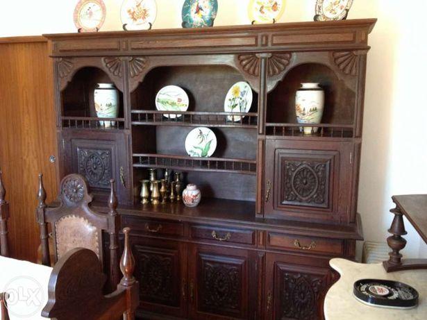 sala de jantar , mesa extensível e 6 cadeiras - madeira jambir