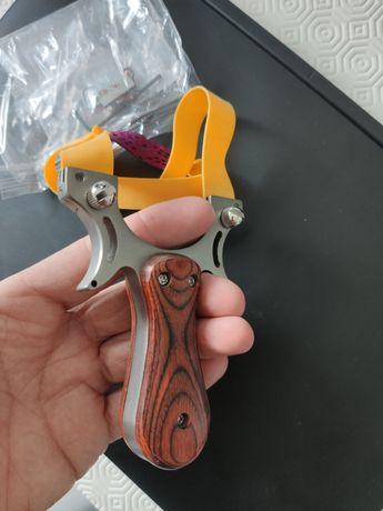 Fisga aço inox caça sobrevivência slingshot