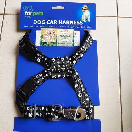 Szelki do auta dla psa