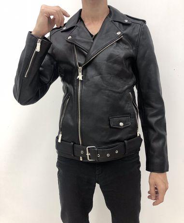 Мужская кожаная куртка кожанка косуха Zara Men leather jacket Zara
