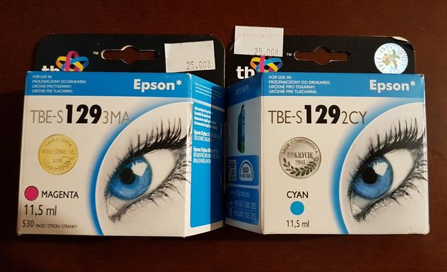 Tusz zamiennik do drukarki Epson TBE-S 129 nowy 2 sztuki