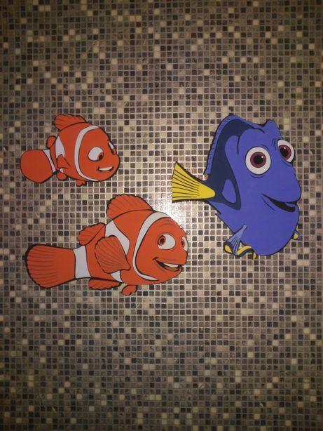 Piankowe rybki Nemo na ścianę