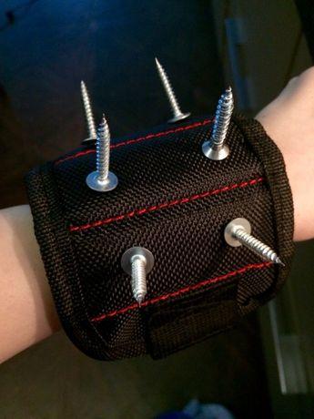 NOWA opaska magnetyczna na nadgarstek magnes na śruby metal narzędzie