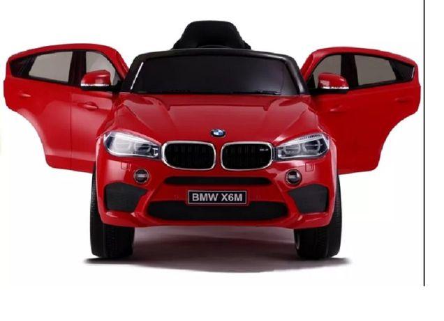 Samochód dla dziecka BMW X6 M auto na akumulator skórzany fotel