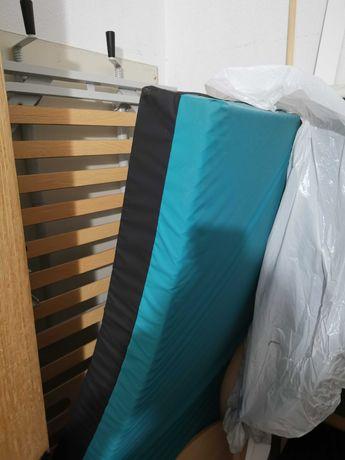 Cama articulada manual com colchão anti escaras