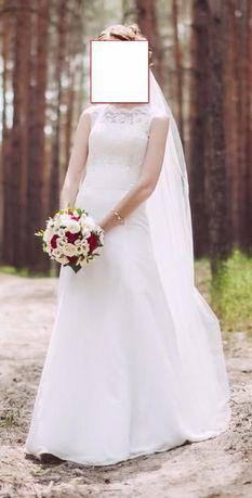 Шикарное свадебное платье (42 р)