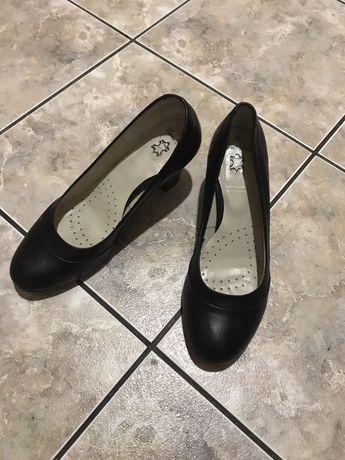Buty skórzane czółenka 40