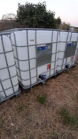 Zbiornik zbiorniki 1000 litrów Mauser Na deszczówkę TRANSPORT