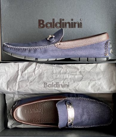 Baldinini мокасины, джинс и кожа, размер 43, Италия