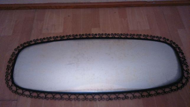 Lustro, retro, ręcznie robiona rama