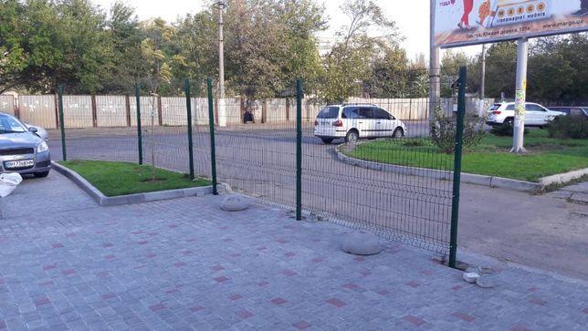Забор из сварной сетки 3 Д Забор секционный Ворота Калитка Установка