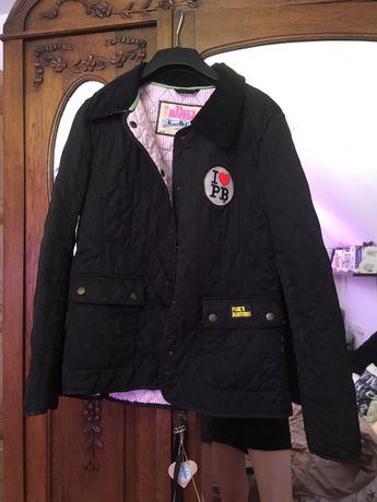 Nowa kurtka pikowana bomberka z naszywkami pauls boutique