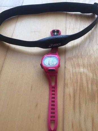 Relógio Asics rosa com banda