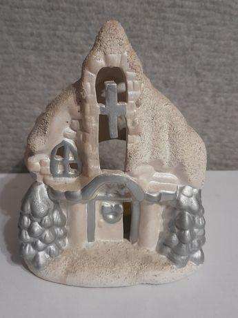Lampion Bożonarodzeniowy-chatka ceramiczna