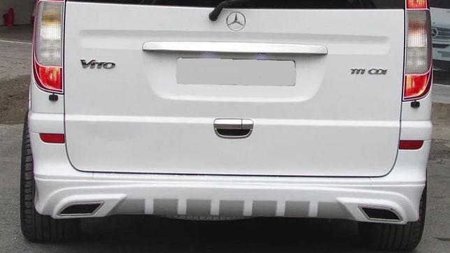 Накладка на задний бампер вито 639 AMG