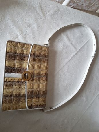 Mala vintage Diamond pele cobra