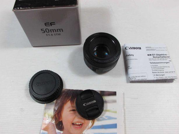 Canon 50mm 1.8mm STM - GARANTIA - na caixa