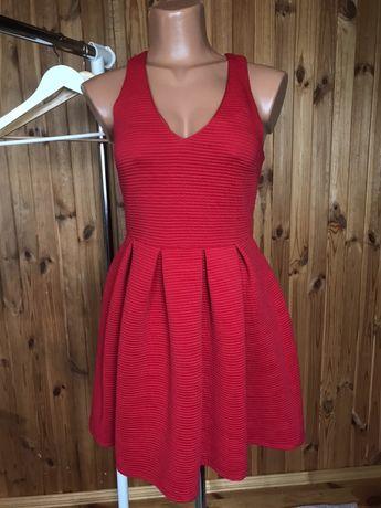Секси красное платье top shop новое