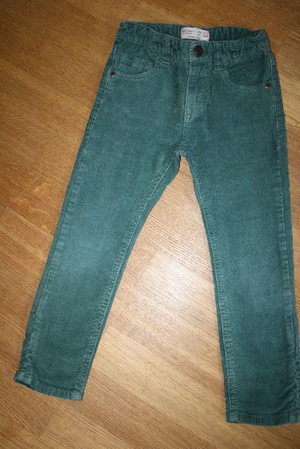Spodnie sztruksowe ZARA rozm. 104