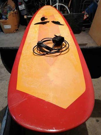 7.6 & 6.8 Evolution Malibu Funboard prancha de surf deck fins FCS