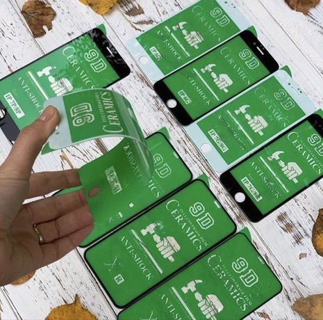 Защитное стекло Ceramic на iphone 6s/7/8+/Х R/11 Pro MAX НЕ БЬЕТСЯ!