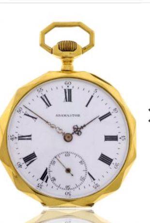 Relógio Adamastor ouro 14k,59,5g ,obra de arte ,vendo ou troco