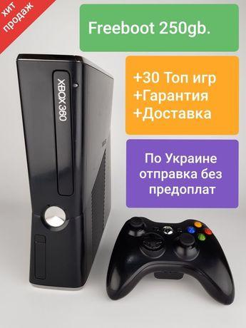 ХИТ!!! Прошитый Xbox360 Slim 250gb.FREEBOOT+Gta5,Fifa19(Взломанный)