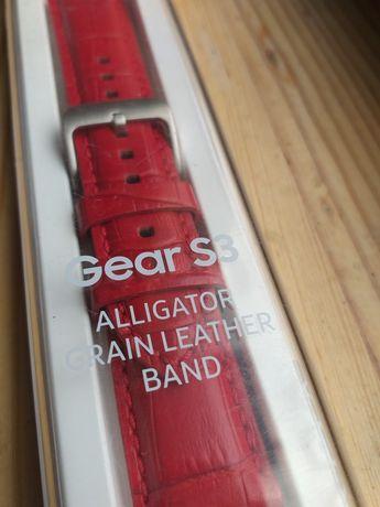 Продам оригинальный красный аллигатор ремешок Samsung Gear S3&Watch46