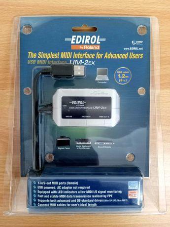 USB MIDI Interface da Roland (Edirol) - Modelo UM-2Ex
