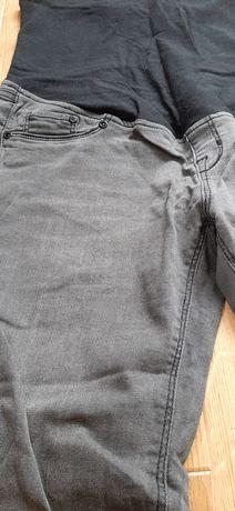 Spodnie ciążowe ze spranego denimu szare H&M MAMA 38